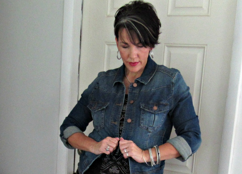 Denim Jacket Transitions Outfit To Fall | The FABulous Journey